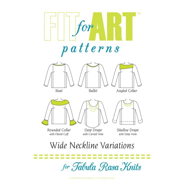 Wide Neckline Variations for Tabula Rasa Knits