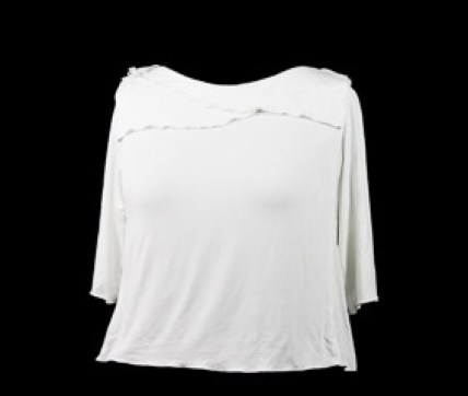 Basic White Tee with angled collars