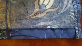 Blue cotton standard hem