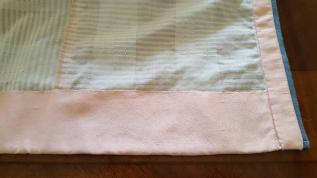 Peach cotton hem on the inside