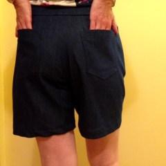 Denim shorts back finished