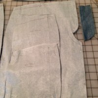 New pattern pieces for denim shorts front