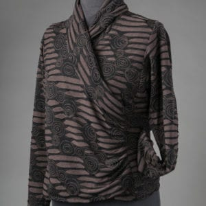Swirling Cowl Neck