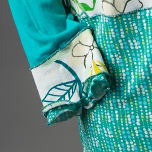 Turquoise Patchwork, cuff detail