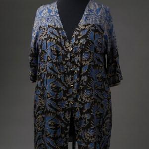 Batik swimsuit cover-up, front view