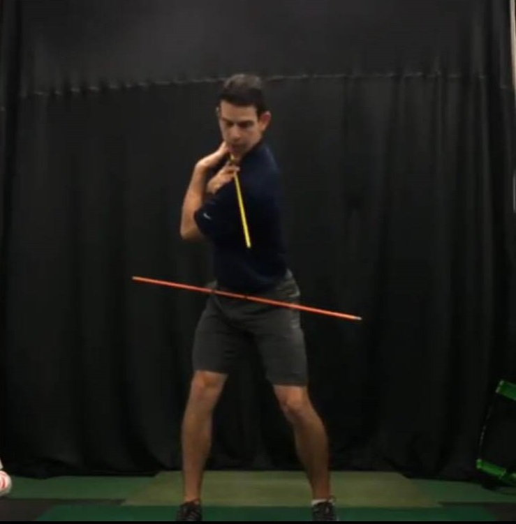 Top position of x-factor swing position