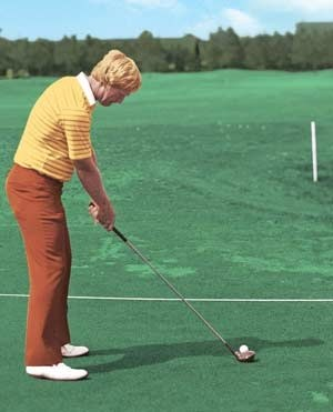 Jack Nicklaus's posture for his golf swing