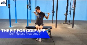 The Fit For Golf app helps with fat loss and club head speed