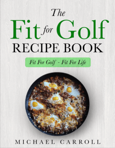 Fit For Golf recipe book for fat loss