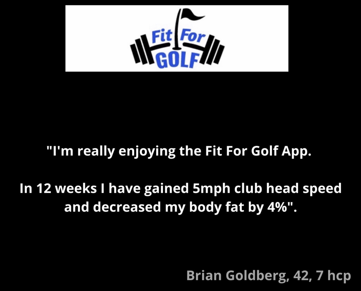 Club Head Speed Increases 5 MPH and Reduces Body Fat