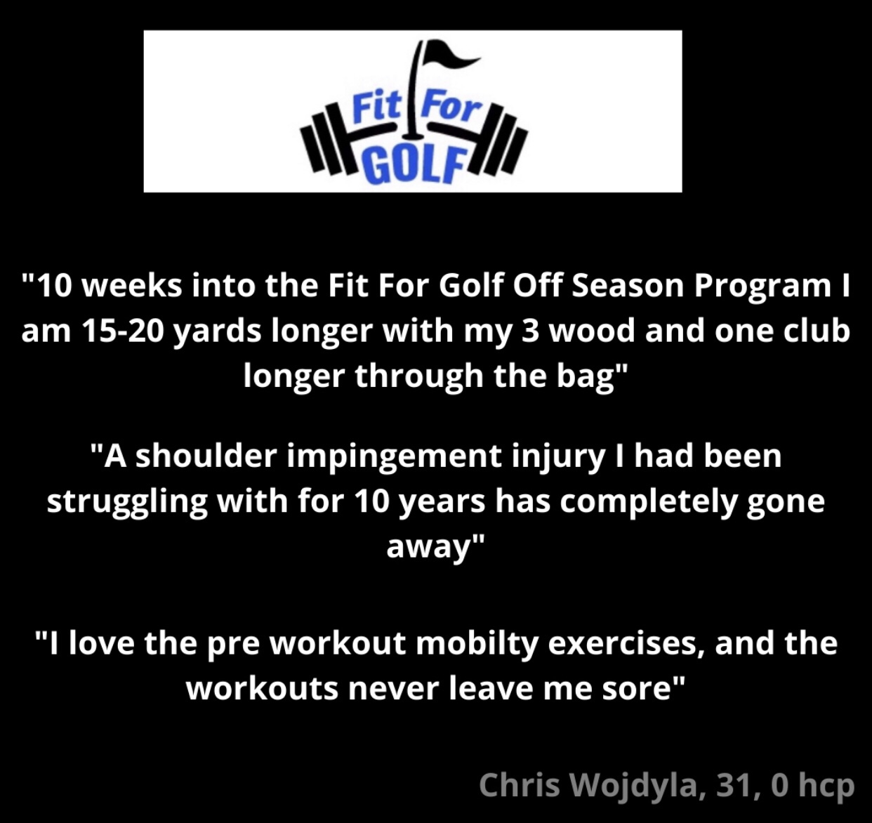 Fit For Golf Off Season Program Increases Drive 20 Yards