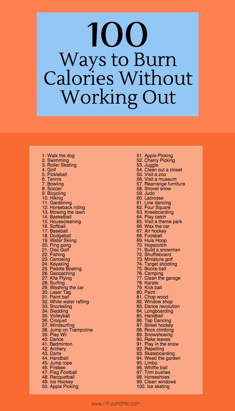 100 Ways to Burn Calories (1)