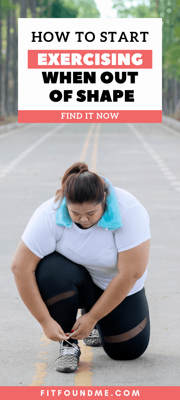 When I was 41 and decided to lose weight I had to figure out how to start exercising from ground zero. I was so out of shape playing Just Dance had me ready to pass out. So, how do you start exercising if you're out of shape after 40? If you are having trouble losing weight after 40, you are not alone. Starting an exercise program for the first time ever as I did, or even getting back into an exercise routine can be so hard for you, it's easier to give up. via @fitfoundme