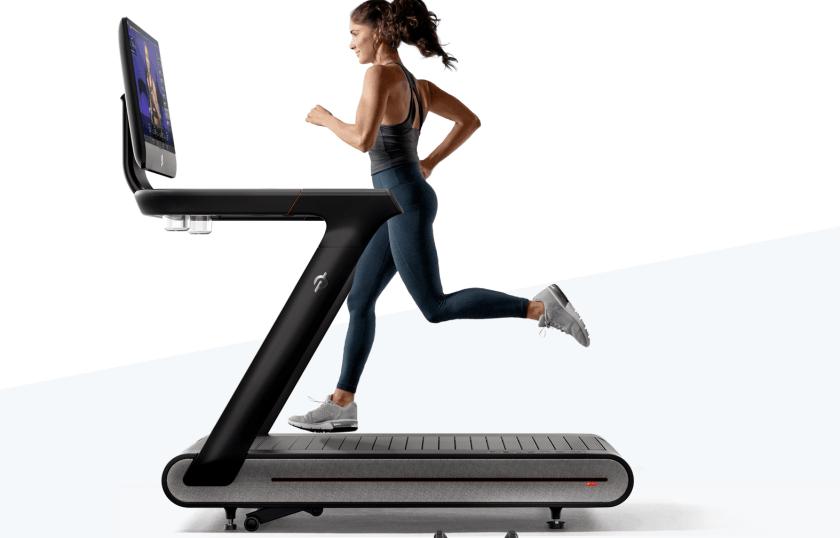 lady running on Peloton tread treadmill