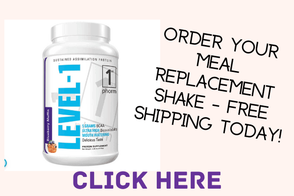 level 1 meal replacement jug of protein powder