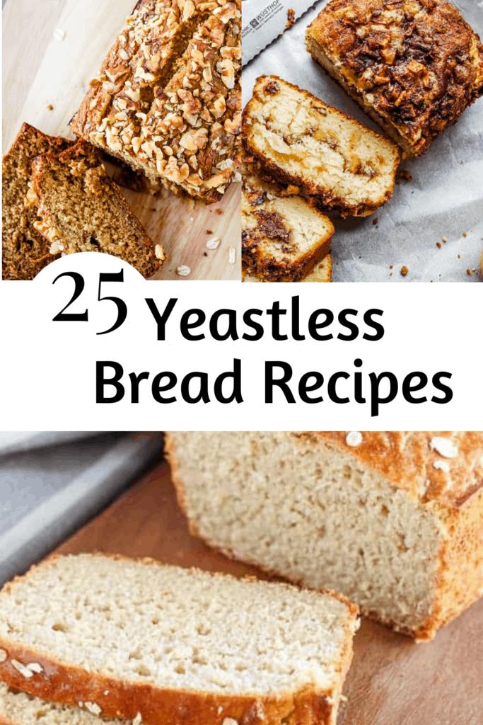 loaves of fresh yeastless bread