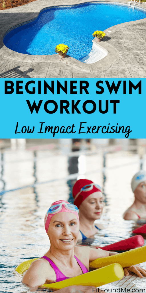 swimming pool and swimmers in pool doing low impact pool exercises