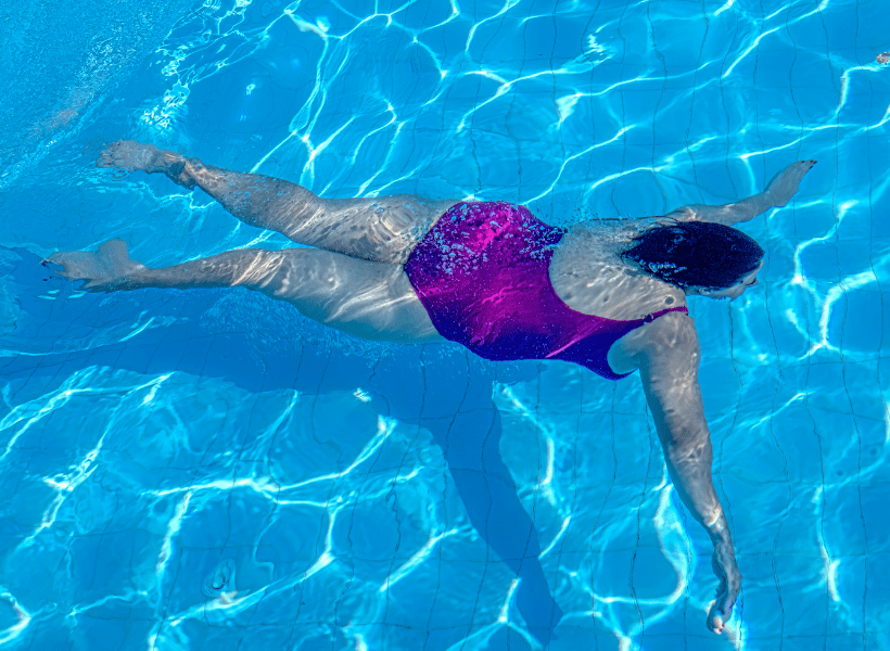 lady swimming for exercise