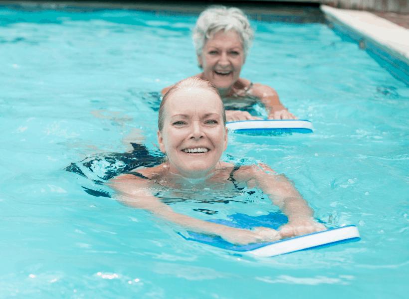 ladies doing pool exercises