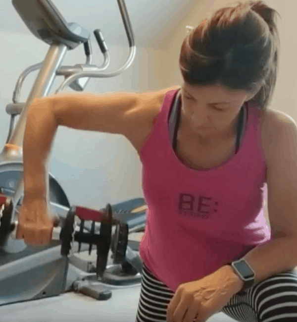 lady doing arm workout