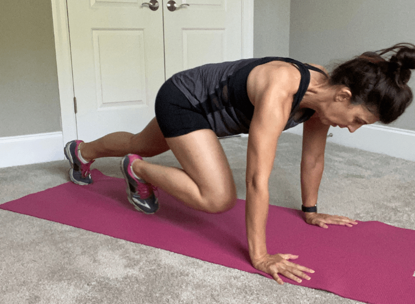 woman doing beginners strength training workout