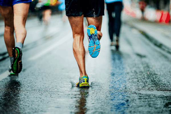 man running on pavement