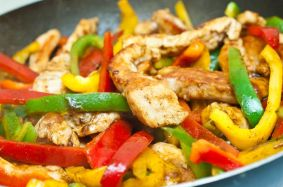 Latin Chicken and Veggie Fajita