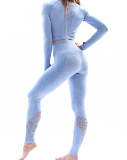 blue seamless outfit fitgal