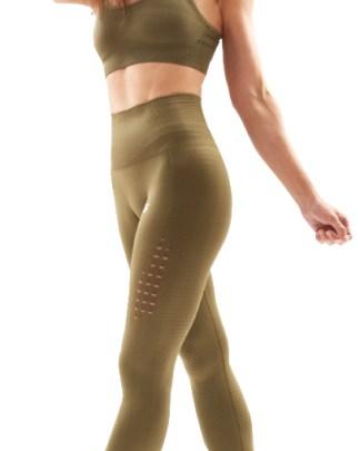 green seamless workout leggings
