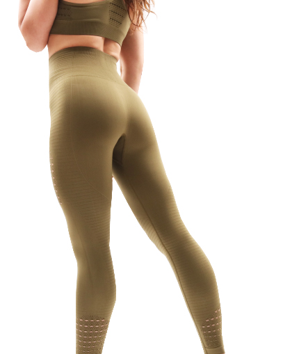 green seamless outfit