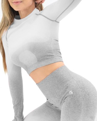 light grey seamless workout outfit