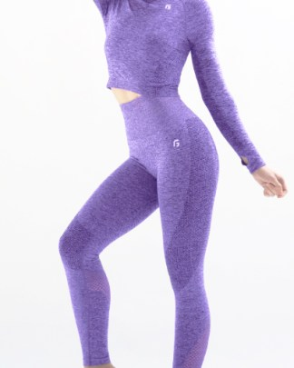 purple seamless workout outfit