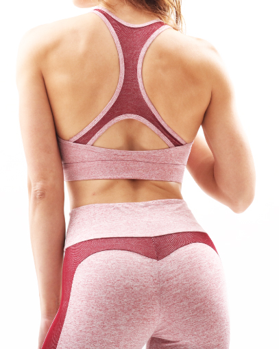 Red Seamless Workout Outfit