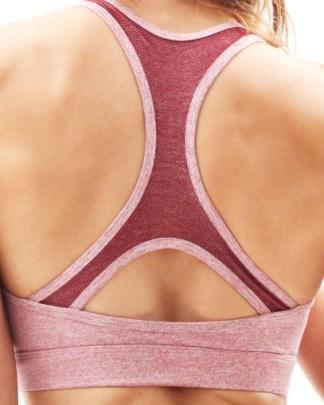 red seamless sports bra