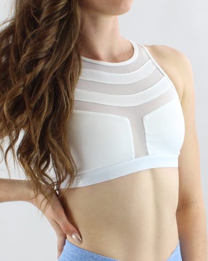 sculpt white sports bra