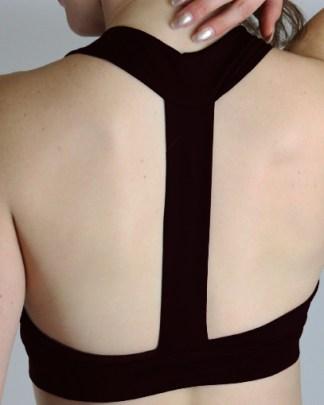 black medium impact sports bra