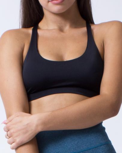 black high support sports bra