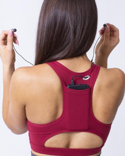 sports bra with pockets