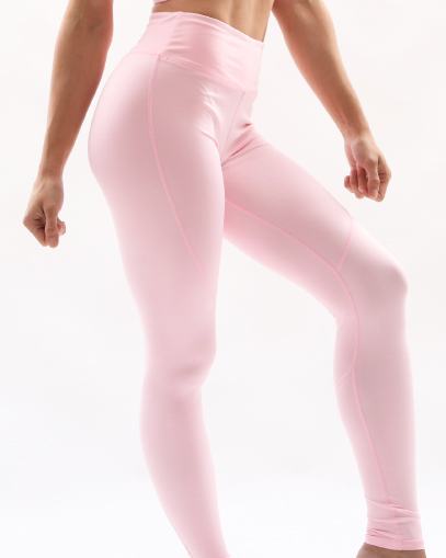 pale pink seamless leggings fitgal activewear