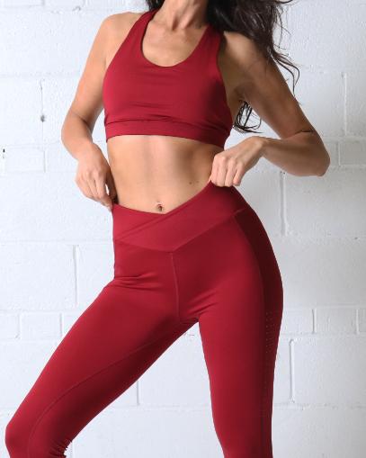 red yoga legging