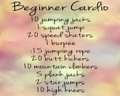 Beginner cardio ideas'