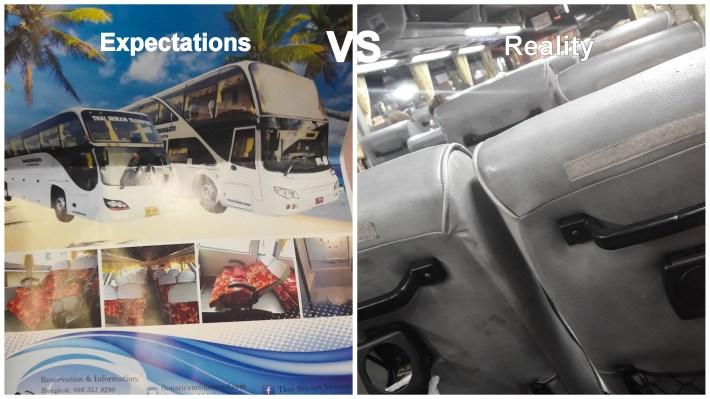 bus, thailand, expectations vs reality