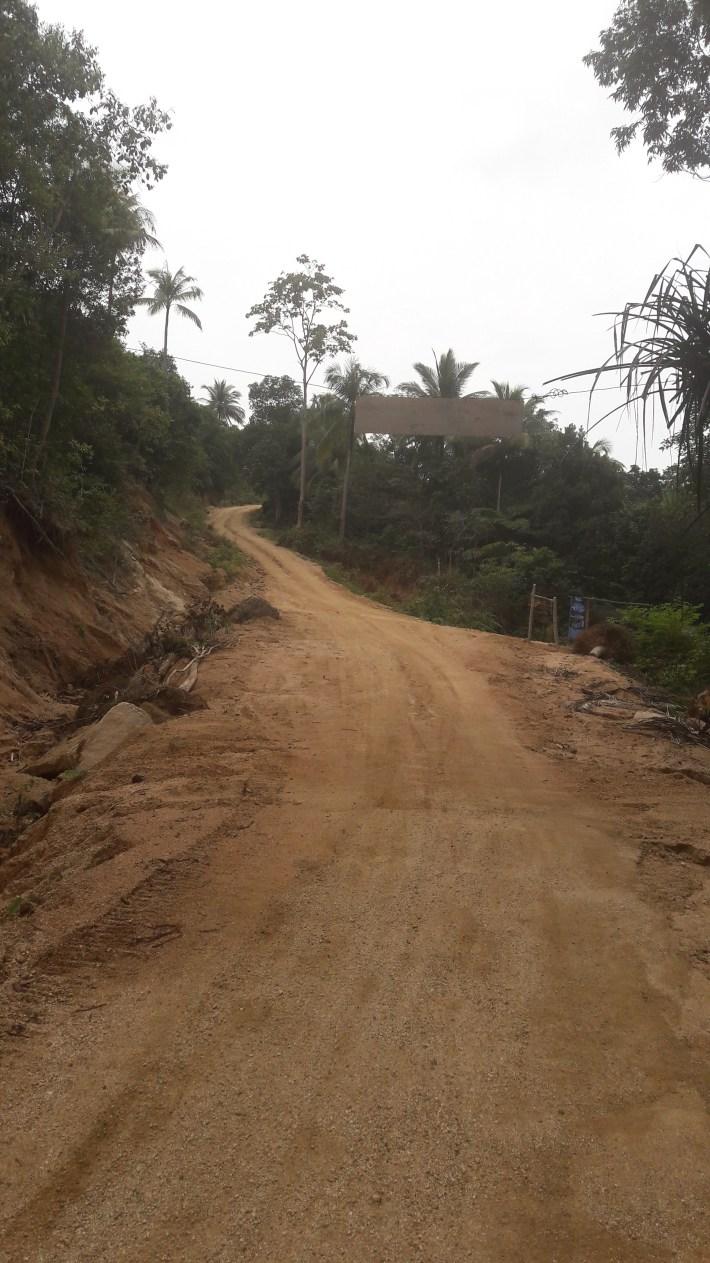 Road to bottle beach on Koh Phangan