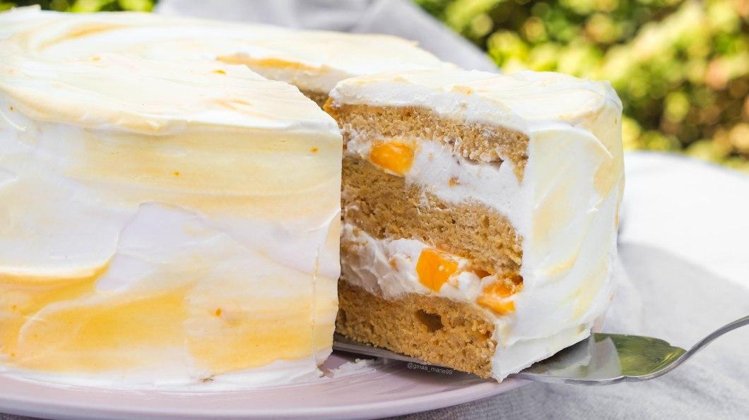 vegan mango lemon torte/ cake , easy