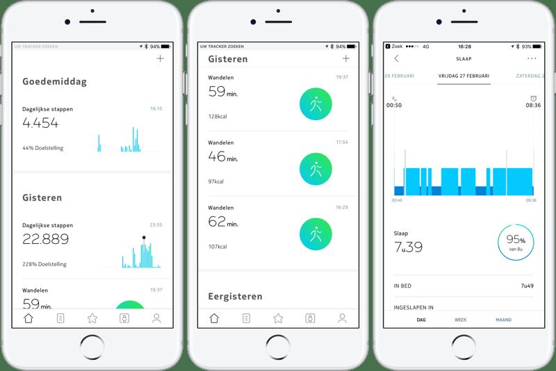 Nokia Health Mate Startscherm
