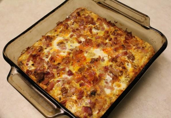 Bacon Chorizo Butternut Squash Breakfast Casserole - a tasty breakfast meal with the best meats!