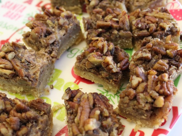 Paleo Pecan Pie Bars - These pecan pie bars are free of processed and refined sugars, gluten and artificial flavors.  And delicious!!