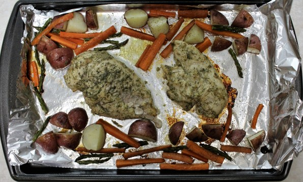 One-pan Dill Chicken and Veggies