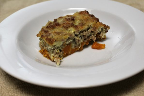 Sausage and Sweet Potato Casserole - paleo and gluten free, and delicious!