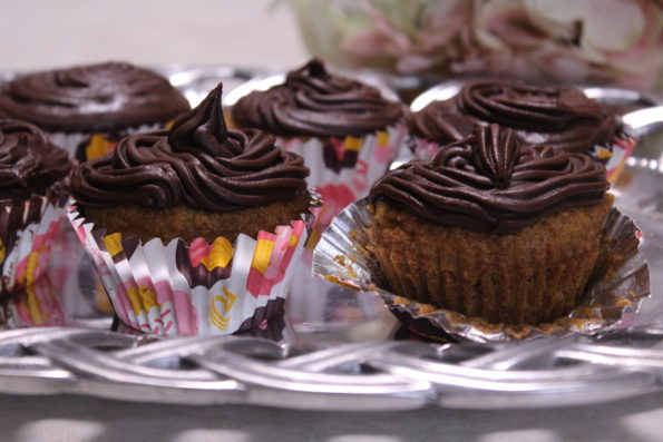 Chocolate Frosted Cinnamon Cupcakes